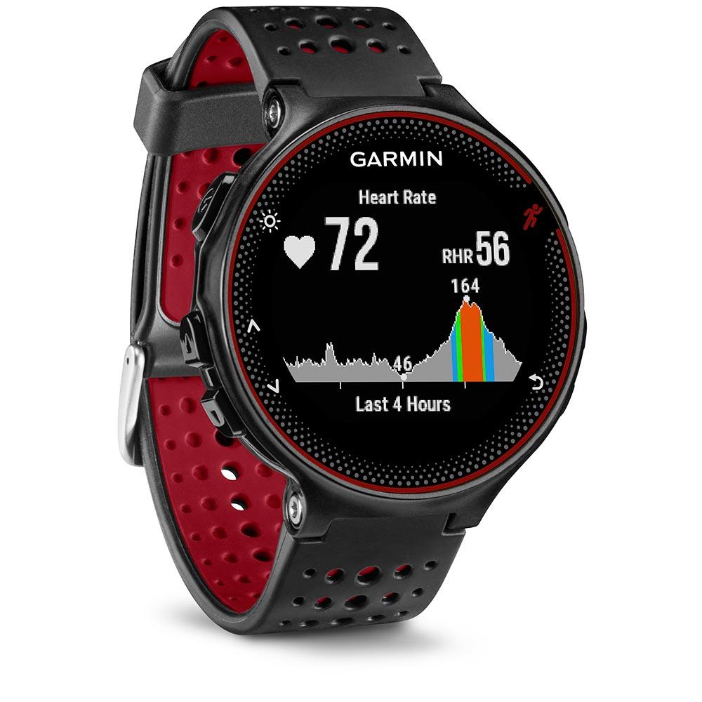 Montre GPS Garmin Forerunner 235 Noire et Rouge avec Capteur de Fréquence Cardiaque intégré