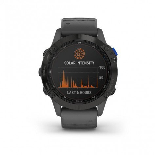 Montre GPS de sport connectée à énergie solaire Garmin fenix® 6 Pro Solar, Black avec bracelet ardoise   010-02410-11_1
