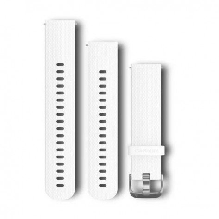 Bracelet Garmin Quick Release 20mm Silicone Blanc
