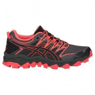 Chaussures de trail Asics Gel-Fujitrabuco 7 Black / Flash Coral pour femme - 1011A197-600_1