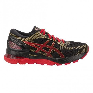Chaussures de course Asics Gel-Nimbus 21 Black/Classic Red pour femme - 1012A235-001_1