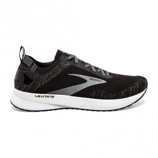 Chaussures entraînements running amorties et réactives Brooks Levitate 4 Black/Blackened Pearl/White pour homme | 110345-012_1
