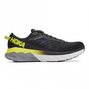 Chaussures entraînement polyvalentes avec une grande stabilité Hoka One One Arahi 4 Black / Evening Primrose pour homme | 1106473-BEPR_1