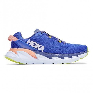Chaussures entraînement longues distances avec amorti et confort Hoka One One Elevon 2 W Amparo Blue / White  pour femme | 1106478-ABLW_1