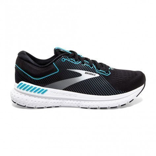 Chaussures entraînement running stables et très confortables Brooks Transcend 7 Black/Ebony/Blue Bird pour femme | 120319-054_1