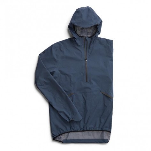 Veste 1/2 zip de running On Waterproof Anorak Navy pour homme   124.00079_1
