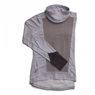 Maillot à manches Longues de running On Weather Shirt Fossil/Rock pour femme   203.00077_1