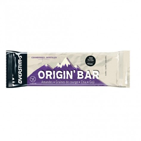 Origin' Bar Overstim's saveur Cranberries-Myrtilles | Barre de 40g