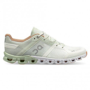 Chaussures de running pour athlètes à foulée neutre, dynamique pour l'entraînement et les compétition On Cloudflow Aloe/White pour femme   25.99636_1