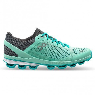 Chaussures entraînement running coureuses à foulée neutre On Cloudsurfer Fountain / Azure pour femme   24.99960_1