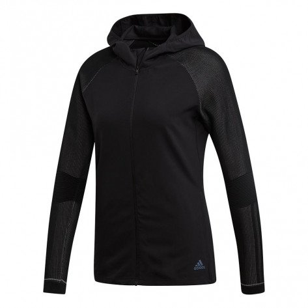 Veste de running légère et confortable adidas PHX II Black / Grey Six pour femme | DZ0059_1