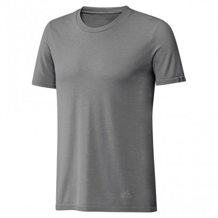 Tee-shirt de course adidas 25/7 Grey Four pour homme   DZ1811_1