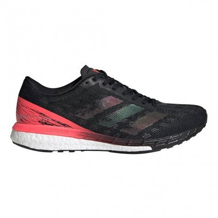 Chaussures running polyvalente pour la vitesse et la performance adidas adizero Boston 9 W Core Black / Core Black / Signal Pink pour femme | EG4656_1