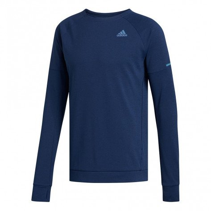 Sweat-shirt à manches longues de sport adidas Supernova Run Cru Tech Indigo pour homme   EH4277_1