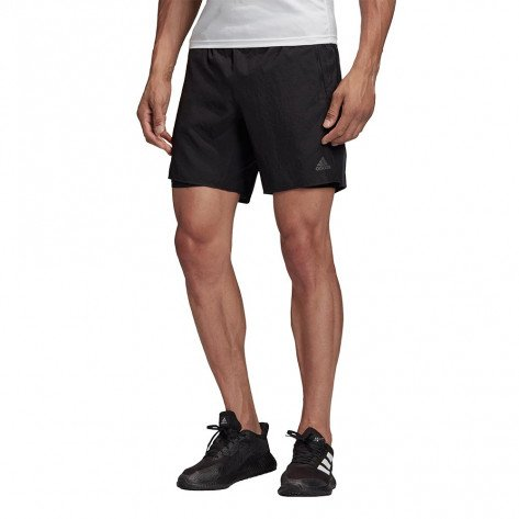 Short de running adidas Saturday Two-in-one Ultra Black pour homme | EH5740_1