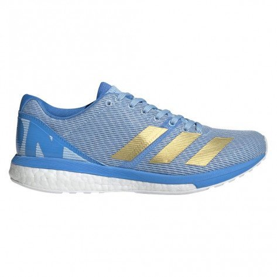 Chaussures entraînements rapides et compétitions toutes distances adidas Adizero Boston 8 W Glow Blue/Gold Metalic/Real Blue pour femme   G28878_1