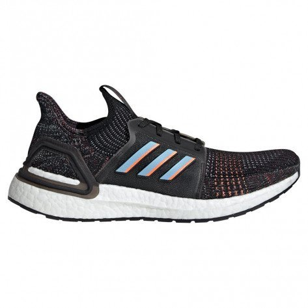 Chaussures de course adidas Ultraboost 19 Core Black / Core Black / Core Black pour homme | G54011_1