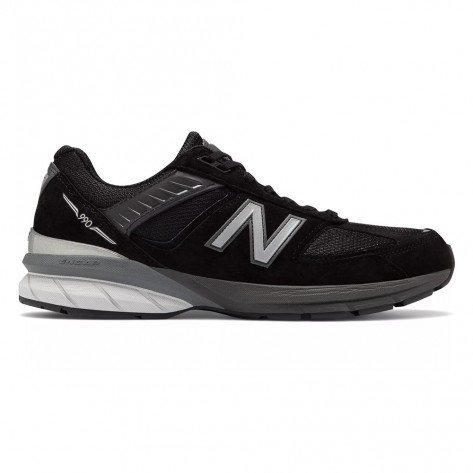 Chaussures de course New Balance Made In US 990v5 Black with Silver pour homme | M990BK5_1