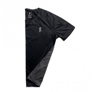 Tee-shirt de course technique On Running Performance-T Black/Shadow pour homme | 102.00003_1