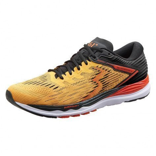 Chaussures entraînement running légères, stables et dynamiques pour coureurs pronateurs 361° Sensation 4 Citrus/Black pour homme   Y906-2309_1