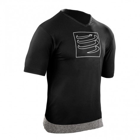 Tee-Shirt Compressport Training Noir pour Homme