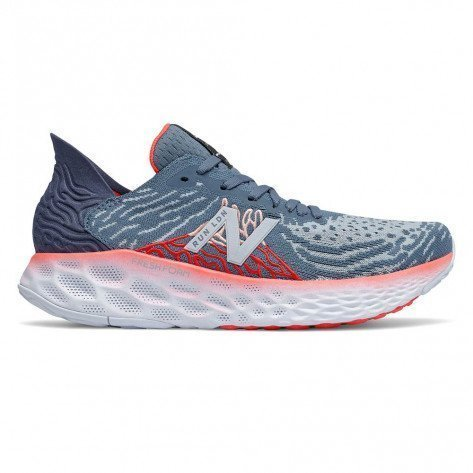 Chaussures running ultra confort New Balance Fresh Foam 1080v10 London Edition Light Slate with Energy Red pour femme - Largeur B (Standard) | 807821-50-12-B_1