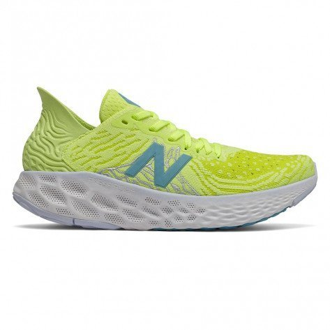 Chaussures entraînements longue distance New Balance W1080S10 Lemon Slush with Sulphur Yellow & Bali Blue pour femme | 778661-50-7_1