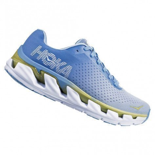 Chaussures de course Hoka One One Elevon Placid Blue / Lime Sherbet pour femme | 1019268-PBLSR_1