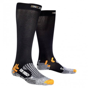Chaussettes de Compression Légère X-Socks Run Energizer Noires Mixtes
