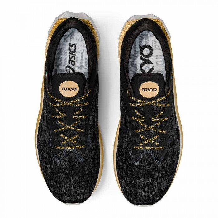 Chaussures running Asics Homme   Asics Novablast TOKYO Black ...