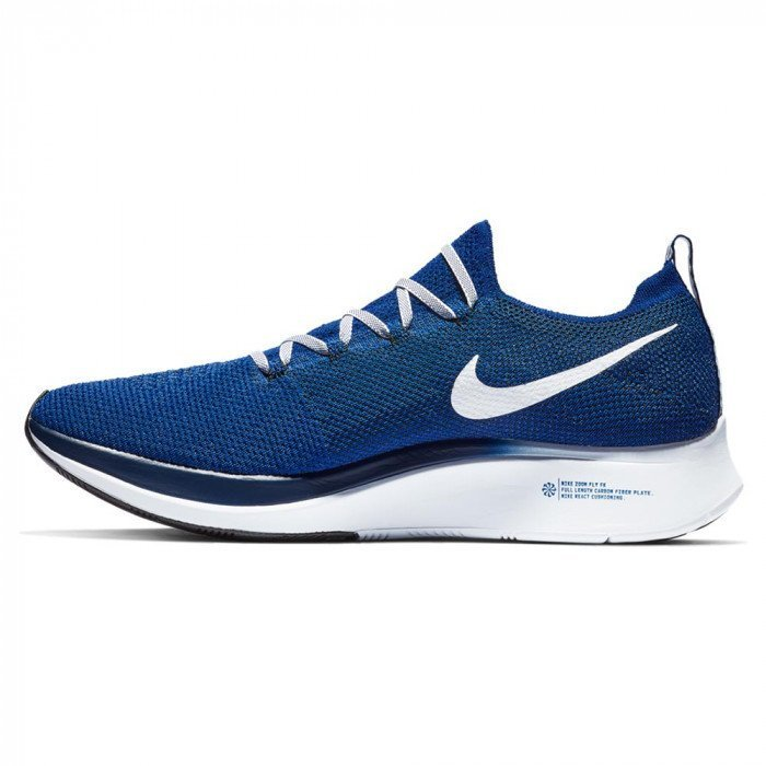 Nike Zoom Fly Flyknit Bleue et Blanche pour Homme