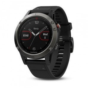 Montre GPS Garmin Fēnix 5 Grise avec Bracelet Noir
