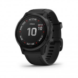 Montre GPS outdoor premium Garmin Fēnix 6S PRO Black noire avec Bracelet Silicone Noir | 010-02159-14_1