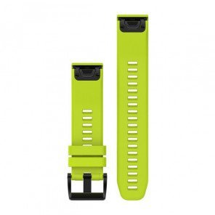 Bracelet Garmin QuickFit 22mm Silicone Jaune pour Fēnix 5 / Forerunner 935