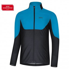 Maillot de course Gore Wear R5 Gore Windstopper Dynamic Cyan/Black pour homme | 1002850N99_1