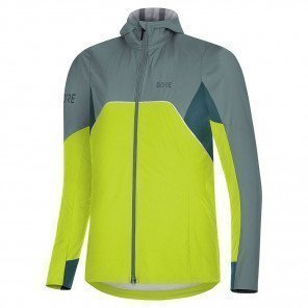 Veste à Capuche Gore® Wear R7 Gore-Tex Infinium™ Citrus Green / Nordic Blue pour femme | 100460ARAP_1