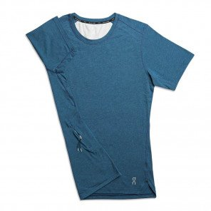 Tee-shirt de course On Comfort-T Navy pour homme - 101.00001_1
