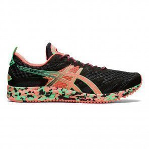 Chaussures running triathlon Asics Gel-Noosa Tri 12 Black/Flash Coral pour homme | 1011A673-001_1