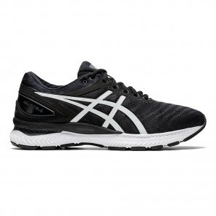 Chaussures running premium marathon Asics Gel-Nimbus 22 Black/White pour homme | 1011A680-005_1