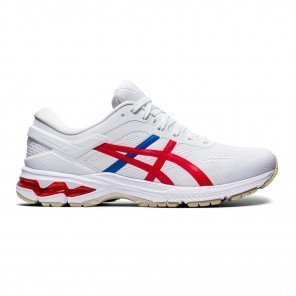 Chaussures entraînement amorties et stables Asics GEL-KAYANO 26 RETRO TOKYO White/Classic Red pour Homme | 1011A771-100_1