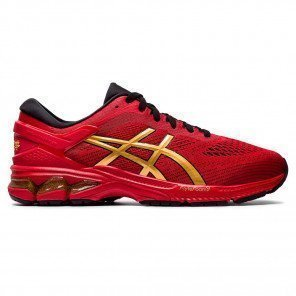 Chaussures de course Asics GEL-KAYANO 26 Classic Red/Pure Gold pour Homme | 1011A772-600_1