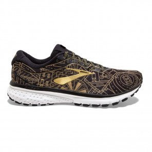 Chaussures running entraînement confortable Brooks Ghost 12 New York Edition Black/Gold/White pour homme | 110316-026_1