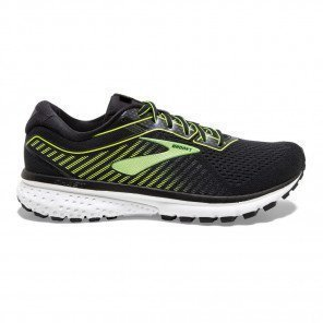 Chaussures entrainement running confortable Brooks Ghost 12 Black/Nightlife/White pour homme | 110316-039_1