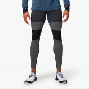 Collant On Tights Long Noir et Gris pour Homme