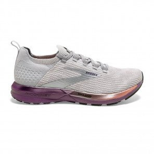 Chaussures entraînement universelle et dynamique Brooks Ricochet 2 Grey/Cantaloupe/Grape pour femme | 120303-026_1