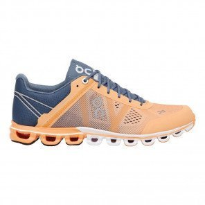 On Cloudflow Orange et Grise pour Femme