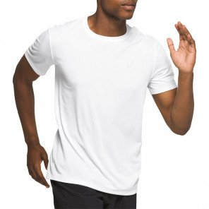 Tee-shirt de running technique ASICS KATAKANA SS TOP Brilliant White pour homme | 2011A813-100_1