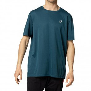 Tee-shirt de running technique ASICS KATAKANA SS TOP Magnetic Blue pour homme | 2011A813-405_1