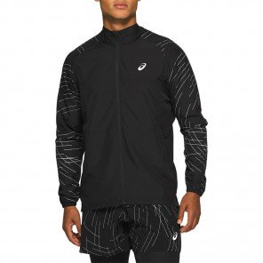 Veste de running Asics Night Track Jacket Black pour homme | 2011A836-002_1