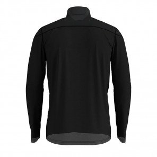 Tee-Shirt manches longues 1/2 zip Odlo Ceramiwarm Element Noir et Gris pour Homme